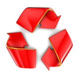 Recycle symbol. Isolated on white Stock Image