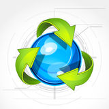Recycle symbol. An illustration of the recycle symbol royalty free illustration