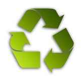 Recycle symbol. Green recycle symbol over white background. Illustration Royalty Free Stock Photos