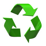 Recycle symbol. Isolated on white background Royalty Free Stock Images