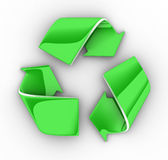 Recycle symbol. Isolated on white, clipping path included Stock Photo