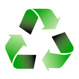 Recycle symbol. Am image showing  three recycle green arrows symbol Royalty Free Stock Photography
