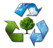 Recycle Symbol. Air, Water, Earth Stock Photography