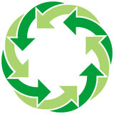 Recycle Symbol. Illustration of symbol rpresenting recycling royalty free illustration