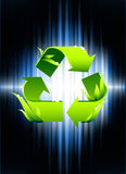 Recycle Symbol on Abstract Spectrum Background Stock Photo