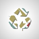 Recycle Symbol, abstract style illustration Royalty Free Stock Photography