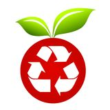 Recycle Symbol on Apple Royalty Free Stock Photo