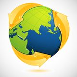 Recycle Symbol Around Earth Stock Image