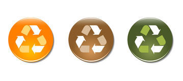 Recycle symbol badge icons Royalty Free Stock Photo