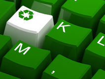Recycle symbol button Stock Photos