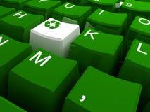 Recycle symbol button Stock Photos