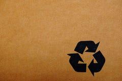 Recycle symbol on carton box Royalty Free Stock Image