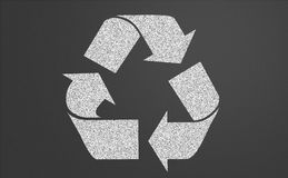 Recycle symbol on a chalkboard Royalty Free Stock Image