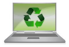 Recycle Symbol on Computer Stock Photography