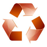 Recycle symbol of conservation brown icon isolated. On white background. 3D. Vector Illustration Royalty Free Stock Images