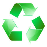 Recycle symbol of conservation green icon isolated. On white background. 3D. Vector Illustration Royalty Free Stock Image