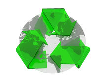 Recycle symbol cover earth Royalty Free Stock Photo