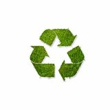 Recycle symbol covered  with grass Royalty Free Stock Photo