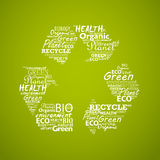 Recycle symbol created from words. Stock Photography