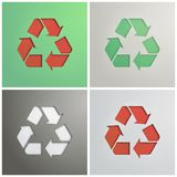 Recycle Symbol, cut from cardboard. Stock Photos