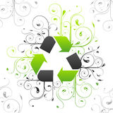 Recycle symbol design royalty free illustration