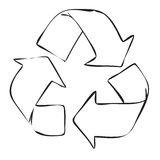 Recycle Symbol in Doodle Style Stock Photos