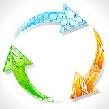 Recycle Symbol with Element of Earth Royalty Free Stock Images