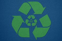 Recycle symbol from fabric Royalty Free Stock Photo