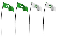 Recycle symbol flags Stock Images