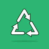 Recycle Symbol Floating Royalty Free Stock Photos