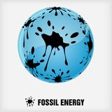 Recycle symbol, fossil energy Royalty Free Stock Images