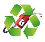 Recycle symbol with a gas pump nozzle Stock Image