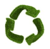 Recycle symbol from grass. isolated on white Stock Photo