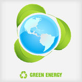 Recycle symbol, green energy Stock Photography