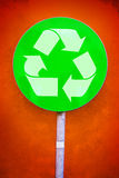 Recycle Symbol Green Sign Stock Photography