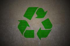 Recycle symbol on grunge. Texture Stock Photo