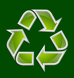 Recycle symbol icon Stock Image