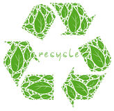 Recycle symbol illustration Stock Photos
