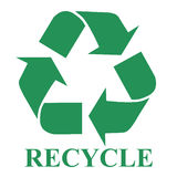 Recycle symbol illustration Royalty Free Stock Images