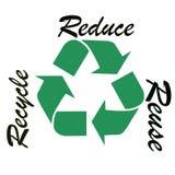 Recycle symbol illustration Stock Photos