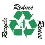 Recycle symbol illustration. Recycling logo symbol. White background Royalty Free Stock Photography