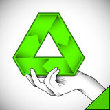 Recycle symbol illustration. Vector illustration of hand with recycle symbol Royalty Free Stock Photography
