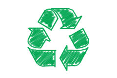 Recycle symbol isolated Royalty Free Stock Photo