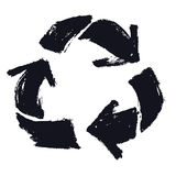 Recycle Symbol Isolated object Hand drawing. Vector Stock Images
