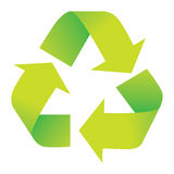 Recycle Symbol Isolated on White Stock Image