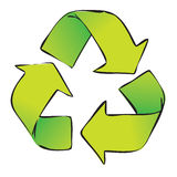 Recycle Symbol Isolated on White Stock Photos