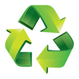 Recycle Symbol Isolated on White Stock Photography