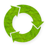 Recycle symbol with leaf texture. Royalty Free Stock Photo