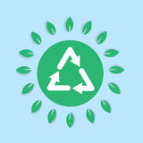 Recycle Symbol Leaves Stock Images