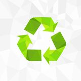 Recycle symbol logo icon polygon triangle style Royalty Free Stock Photography